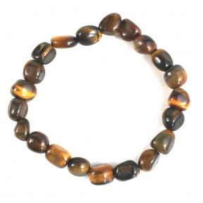 Tiger Eye, Gold Tumblestone Bracelets (10 Pack)