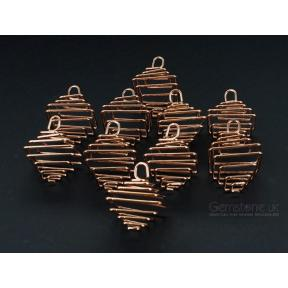 Copper Square Spiral Cage