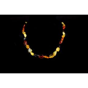 Amber Multi-coloured Drop Necklace