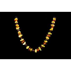 Amber Chip Mini Necklace Multi-coloured