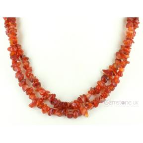 Carnelian Stone Chip Necklace 36