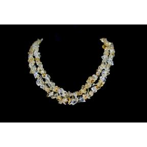 Citrine, Natural Stone Chip Necklace 36