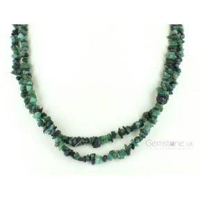 Emerald Stone Chip Necklace 36