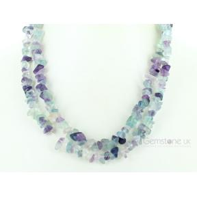 Fluorite Stone Chip Necklace 36