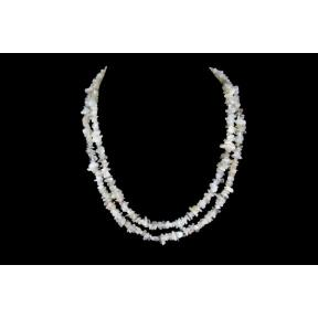 Moonstone Stone Chip Necklace 36