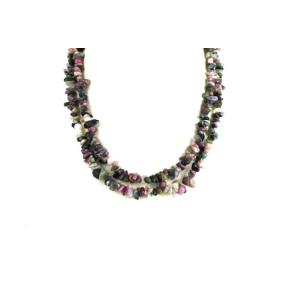 Tourmaline, Mixed Colour Stone Chip Necklace 36