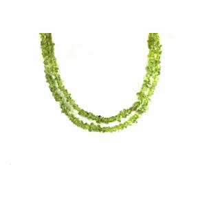 Peridot Stone Chip Necklace 36