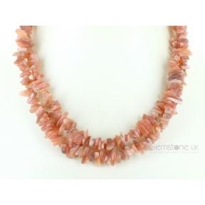 Moonstone, Pink Stone Chip Necklace 36