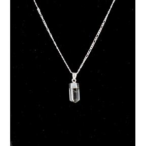 Quartz Mini Polished Point Silver Plated Necklace