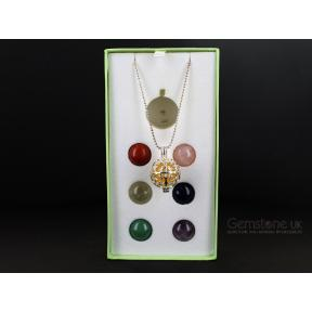 7 Mixed Crystal Interchangeable Sphere Pendant Set