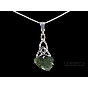 Moldavite Celtic Twist Pendant