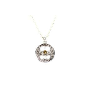 Citrine .925 Chalice Well Pendant