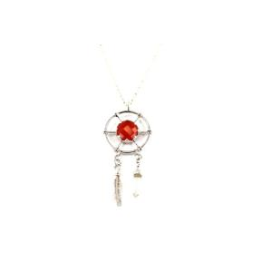 Carnelian .925 Dream Catcher Pendant