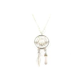 Moonstone, Rainbow .925 Dream Catcher Pendant