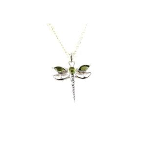 Peridot .925 Dragon Fly Pendant