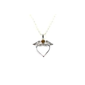 Citrine .925 Dove Heart Pendant