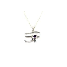 Amethyst .925 Eye of Horus Pendant