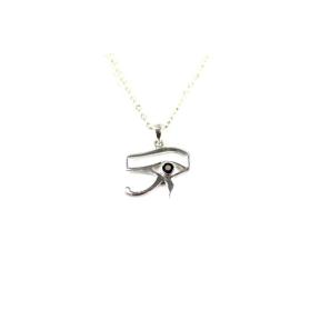 Obsidian Black .925 Eye of Horus Pendant