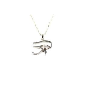 Moonstone, Rainbow .925 Eye of Horus Pendant
