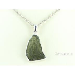 Moldavite Rough Pendant 5