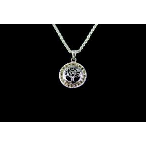 Peridot .925 Bezel Tree of Life Pendant