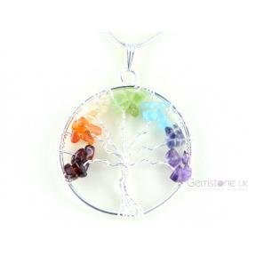 Tree Of Life Chakra Chip Pendant (3 Pack)