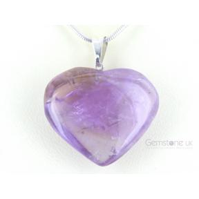 Amethyst Heart Pendant - Medium