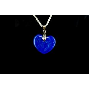 Lapis Heart Pendant - Medium