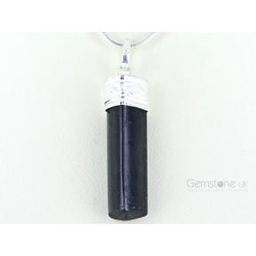 Tourmaline, Black Pencil Pendant