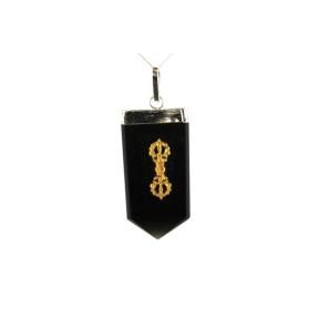 Tourmaline Dorje Tongue Pendant