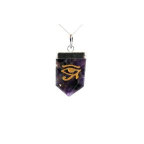 Amethyst Eye Of Horus Tongue Pendant
