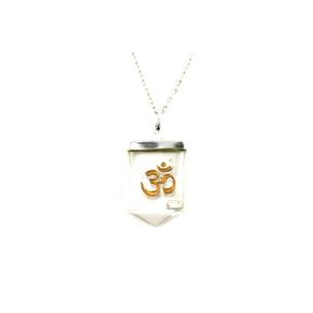 Quartz OM Tongue Pendant
