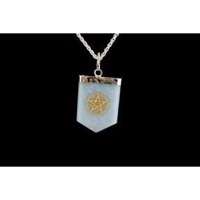 Angelite Pentagram Tongue Pendant