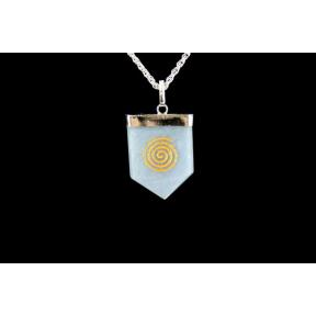 Angelite Swirl Tongue Pendant