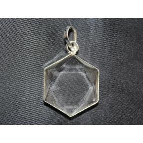 Quartz Star Of David Pendant