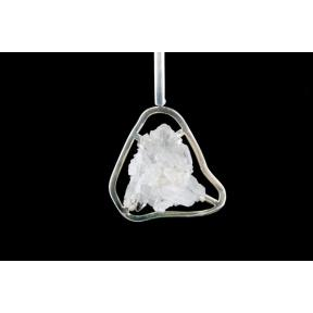 Quartz Cluster Ring Silver Plated Pendant