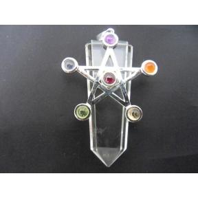 Quartz Chakra Star Tongue Pendant