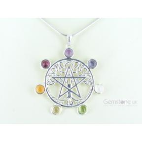 Tree Of Life Star Chakra Pendant
