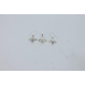 Labradorite Angel .925 Charm Set