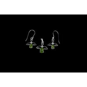 Peridot Angel .925 Charm Set