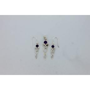 Amethyst Celtic .925 Charm Set