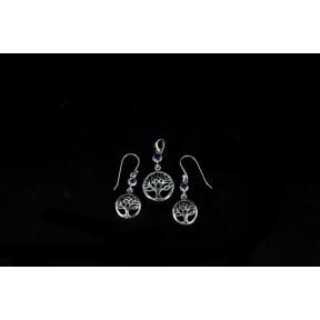 Amethyst Tree of Life .925 Charm Set