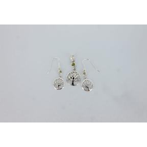 Peridot Tree of Life .925 Charm Set