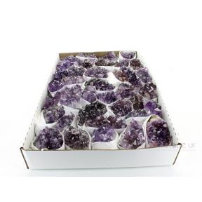 Amethyst Cluster - Large Flat Pack Extra Quality