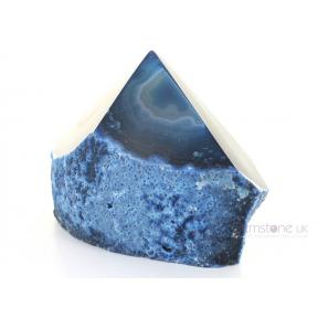 Agate, Blue Rough and Polished Point - 3 - 400