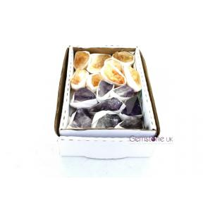 Citrine - Amethyst Rough Small Flat Pack