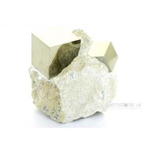 Pyrite Cube On Matrix - Medium