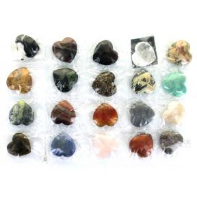 Mixed Crystal Hearts (20 Pack)