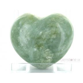 Serpentine, New Jade Heart - Large