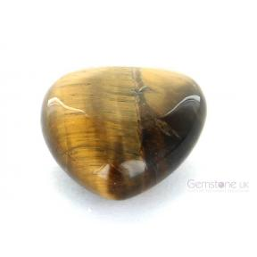 Tiger Eye Puff Heart